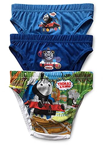 Boys Thomas & Friends - Briefs Pants Underpants Underwear Slips - 3 Pack - Official Licenced 100% Cotton - 2 - 6 Years (4 - 5
