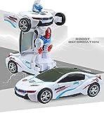 Hobnot Car to Robot Convertible Transforming car(Bumblebee) White