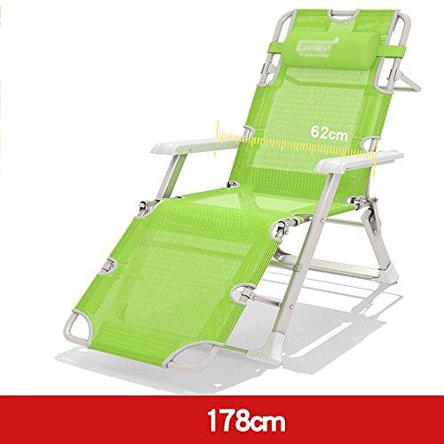 Schlafsofas Brisk- Individuell Falten Bett Lounge Sessel Bett Sessel Büro Siesta-Bett Stuhl Couch (Farbe : 178cm-green Mesh Yarn)