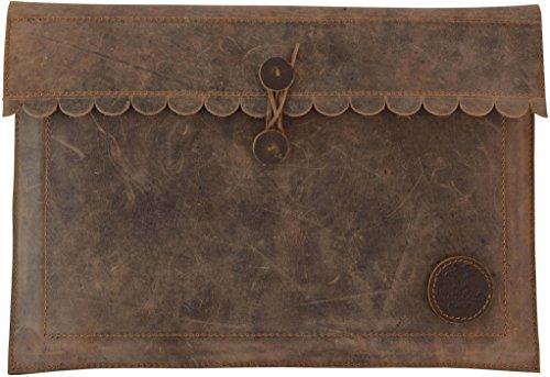 Gusti Leder studio 'Sven' Funda de Cuero para Portátil 15' MacBook-Pro Tablet Estuche Protección Estilo Vintage Retro Mujer Hombre Unisex iPad mini Viaje Documentos Piel de búfalo auténtica 2L58-17-1