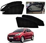 #9: Kozdiko Zipper Magnetic Car Sunshades Curtain Set of 4 Pcs Black Color for Ford Figo Aspire