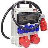 PCE Stromverteiler, Mobilverteiler, Steckdosenverteiler Anif4 BV 1x32/5 1x16/5 4xSSD 2m5G4 Griff Ea, PC/ABS-Gehäuse, anschlussfertig verdrahtet, IP54