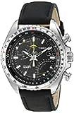 Timex Intelligent Quartz Herren Armbanduhr Chronograph Leder schwarz T2P101