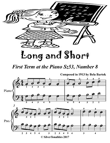 Long and Short First Term at the Piano Sz53 Number 8 Easiest Piano Sheet Music (English Edition) (Piano Music Bartok Sheet)