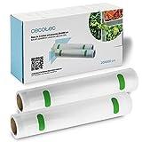 Cecotec Pack de 2 Rollos gofrados medianos para envasadoras de Vacío. 20 x 600...