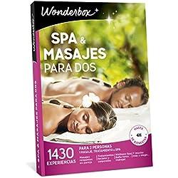 WONDERBOX Caja Regalo -SPA & MASAJES para Dos- 1.430 experiencias para Dos Personas