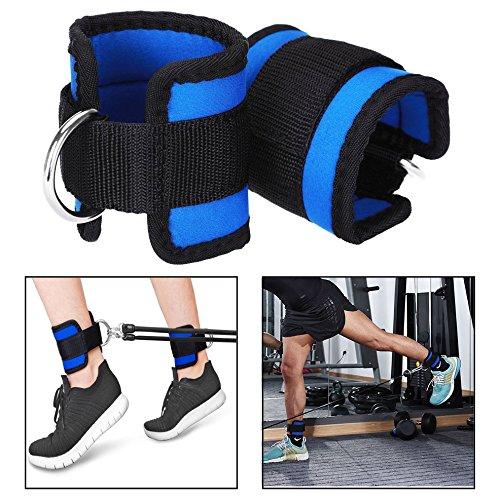 Itian Sport Knöchelriemen,Fitness Knöchel D Ring Gurt Band Knöchelriemen Fußschlaufen für Training am Kabelzug(2 Stück)