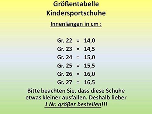 GIBRA Kinder Sportschuhe, grau/neongrün, Gr. 22-27 grau/neongrün