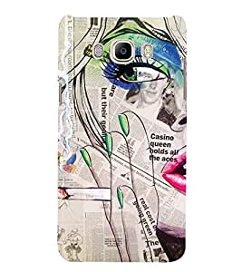 PrintVisa Designer Back Case Cover for Samsung Galaxy On8 Sm-J710Fn/Df (Painitings Watch Cute Fashion Laptop Bluetooth )