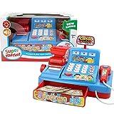 Kleinkindspielzeug Registrierkasse Rollenspielzeug, Kinder Pädagogische Multifunktionale Supermarkt Kasse Licht Musik Play House Toy Set