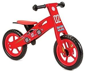 Nicko Racing Cars NIC852 - Bicicleta de Equilibrio Infantil de Madera