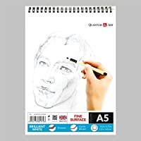 A5 Sketch Pad White Drawing Artist Paper on Spiral Book - 50 sheets - 100 pages