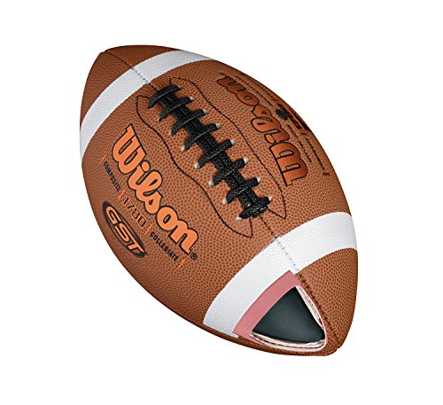 Wilson American Football  Recreational Use  Official Size  GST OFFICIAL COMPOSITE  Riched Tan  WTF1780XB