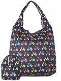 Wendywwoo wiederverwendbar Einkaufstasche mit Beutel (viele Motive) Roller / Schwarz