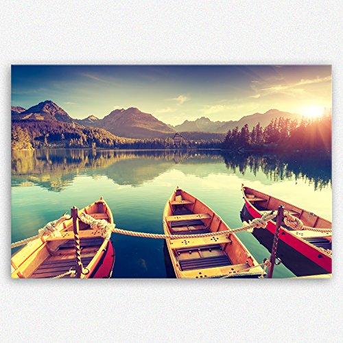 ge Bildet® hochwertiges Leinwandbild XXL - Tatra Nationalpark in der Slowakei - 120 x 80 cm einteilig   Wanddeko Wandbild Wandbilder Wohnzimmer deko Bild   2214 D