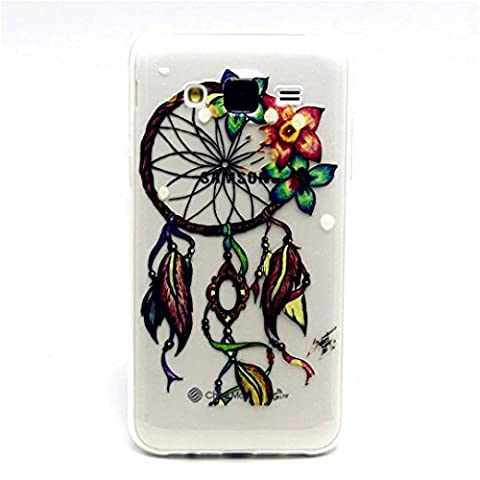 MUTOUREN Samsung Galaxy J5(2015) case cover flexible soft extream thin Durable Creative Multi Colored Pattern Design Full coverage pattern images-Dreamcatcher colorful