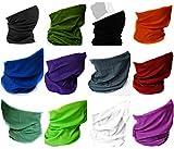 Multifunktionstuch Schlauchtuch Kopftuch Halstuch Motorrad Bandana Farben (Set of 12 (Choose any 12 colors))
