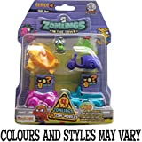 Zomlings Serie 4 blister (4 Zom-móvil y 4 Zomlings)