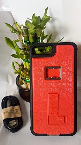 Multifunktionale* Hülle für Apple iPhone 7 mit sicherste USB Zigarettenanzünder&Flaschenöffner&Halterung für iPhone 7 Case Tasche Schale - voller Schutz Hülle/Case mit integrierten geschützten elektro RED