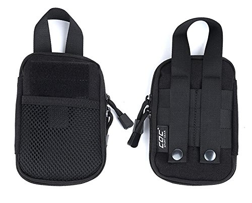 gaodear Tactical MOLLE Beutel EDC Compact Pocket Organizer Tasche Mini Taille Tasche Outdoor Sport Handy, Schlüssel, Utility Gadget Sicherheit Pack Schwarz