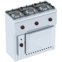 Macfrin 44093 Cocina Con Horno a Gas 3 Fuegos 19.5 Kw