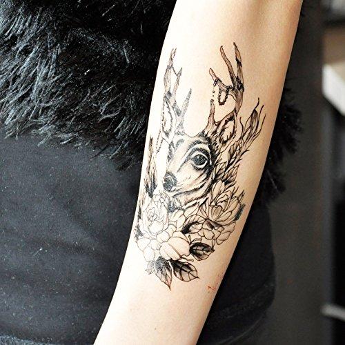 temporre-krperkunst-entfernbare-tattoo-aufkleber-hirsch-4131-sticker-tattoo-temporary-tattoo-fashion