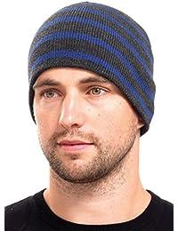Rjm Mens Striped Beanie Hats
