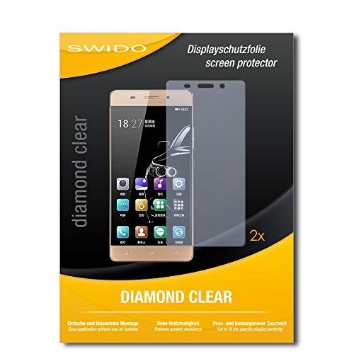 SWIDO 2 x Bildschirmschutzfolie Gionee Marathon M5 lite Schutzfolie Folie DiamondClear unsichtbar