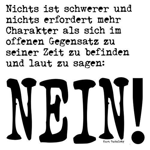 Kurt Tucholsky - Nein sagen - Holztafel: Gedichte auf Holz (Serie)