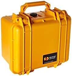 Pelican 1300 Case With Foam For Camera - Yellow