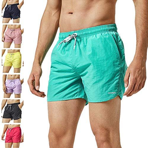 80543929e781 MaaMgic Shorts de Corte Slim para Hombre, bañador de natación de Secado  rápido con Forro de Malla, Trajes de baño para Hombres