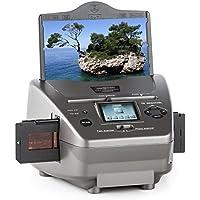 OneConcept 979GY • Combo Dia-Film-Foto-Scanner • Computer-unabhängig • 9x13, 10x15 und 13x18 cm, Dia-Film, 35 mm Negativ-Film • 32 MB Speicher • Mini-USB-2.0-Port • SD/MMC-Slot • Silber