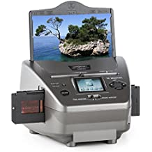 oneConcept 979GY escáner multifunción (escanea diapositivas, negativos, fotos, 14 MP, sensor CMOS, entrada SD, USB, pantalla LCD, funciones procesamiento imagen) - gris