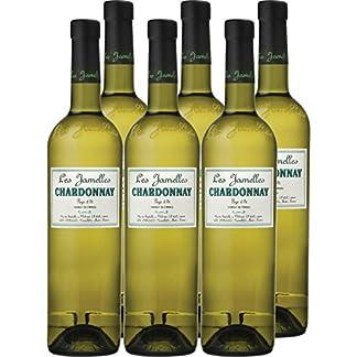 6x-075l-2015er-Les-Jamelles-Chardonnay-Pays-dOc-IGP-Languedoc-Roussillon-Frankreich-Weiwein-trocken