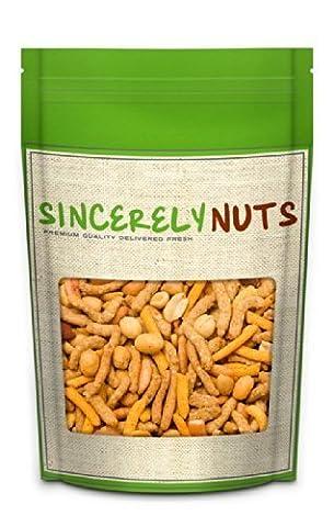 Sincerely Nuts Cajun Hot Mix - Peanuts, Cajun Sticks, Chili Bits, Almonds, Sesame Sticks, Soybeans 1 Lb