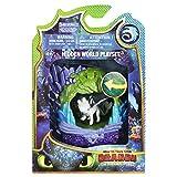 Cómo entrenar a tu dragón - Cueva de Dragón Furia Luminosa, Dragons playset Lightfury (Bizak 61926624)