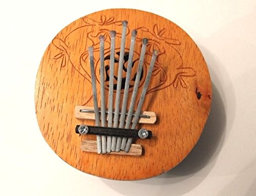 Kalimba 7 Zungen Daumenklavier Echte Handarbeit Kokosnuss Karimba Musikinstrument