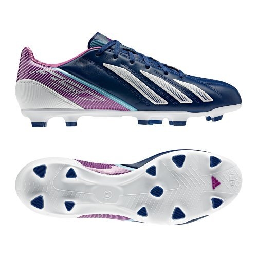 size 40 b01c8 a86cd Adidas F30 Trx Fg Leather Fussballschuhe Dark Blue-running White-vivid Pink  - 42