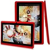 "Léliktec - Allwinner A13 - Tablette tactile - Disque dur 4GB HDD - Processeur 1.0 GHz - RAM 512Mo - Wifi - Android 4.0.4 (Ice Cream Sandwich OS) - Ecran tactile 7"" - Rouge"