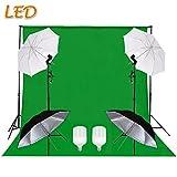 SBARTAR - 2.8 * 3M Hintergrundsystem Fotostudio 3 * 6M Foto Hintergrund Greenscreen Fotografie Set LED Studio Fotoleuchte 4 Schirm ¡