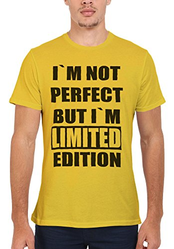I Am Not Perfect But I Am Limited Edition Men Women Damen Herren Unisex Top T Shirt Licht Gelb