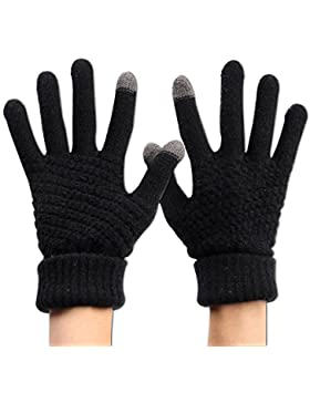 Guantes de pantalla táctil cálidos de lana de invierno Guantes Táctiles para Smartphones y Tablets Unisex 4 Color...