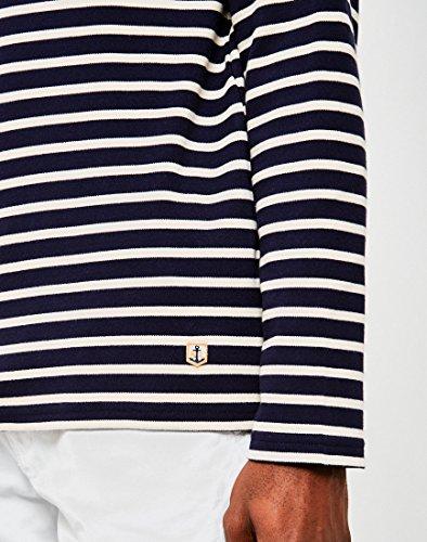 Armor Lux Herren T-Shirt Marinière Héritage Multicolore (Navire/Nature 429)