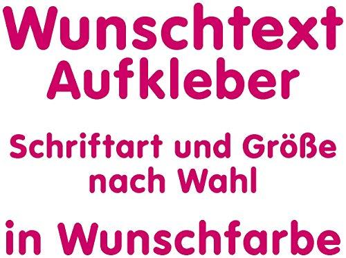 Samunshi® Aufkleber Autoaufkleber Name Wunschname Sticker Wunschtext Personalisierbar variabel pink