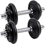 Songmics Dumbbell Weight Set Cast Iron 20 kg, 30 kg, 40 kg