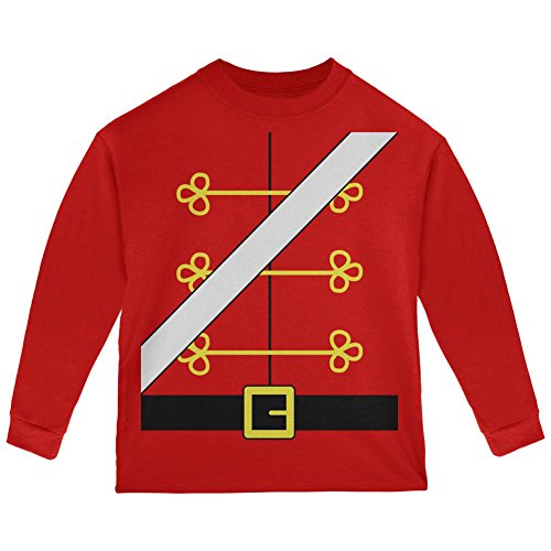 Old Glory Weihnachten Spielzeug Soldat Nussknacker Kostüm Kleinkind Langarm T-Shirt Rot 2 t