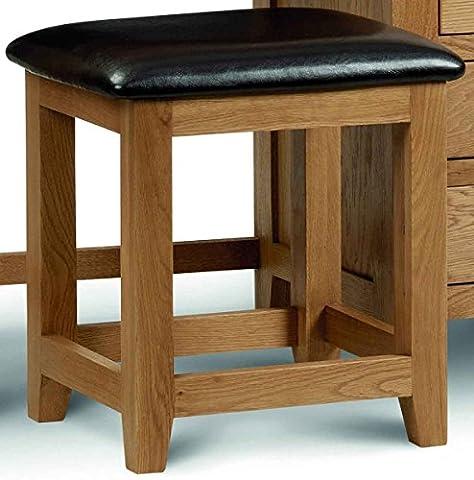 Julian Bowen Marlborough Oak Dressing Table Stool, Size: H 47cm,