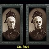 WSCOLL 3D Gesichtswechsel Ghost Frame Horror Halloween Dekoration Requisiten Bilder Frames Gesichtswechsel Ghost Halloween Party Decor ME