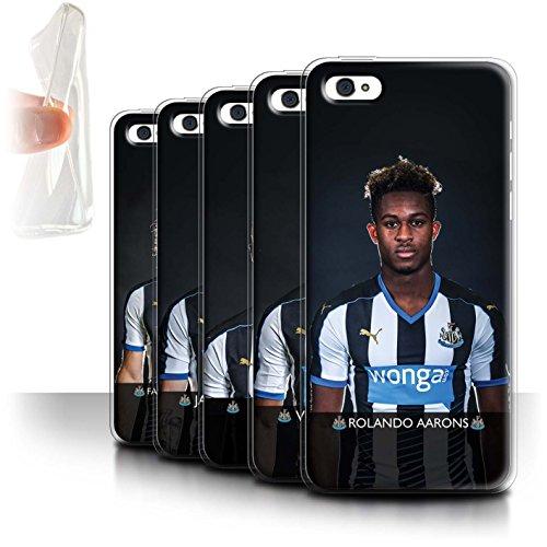 Officiel Newcastle United FC Coque / Etui Gel TPU pour Apple iPhone 5C / Colback Design / NUFC Joueur Football 15/16 Collection Pack 25pcs