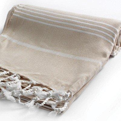 Telo per sauna/da mare/asciugamano, 100% cotone turco, beige, 95*175 cm